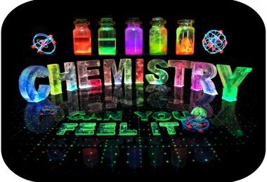 Photographic word designs using hand made coloured lights and uv reactive sculptures in water.