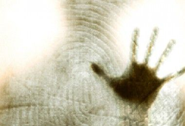 рука палец отпечаток