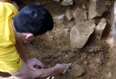археология Япония рыболовный крючок