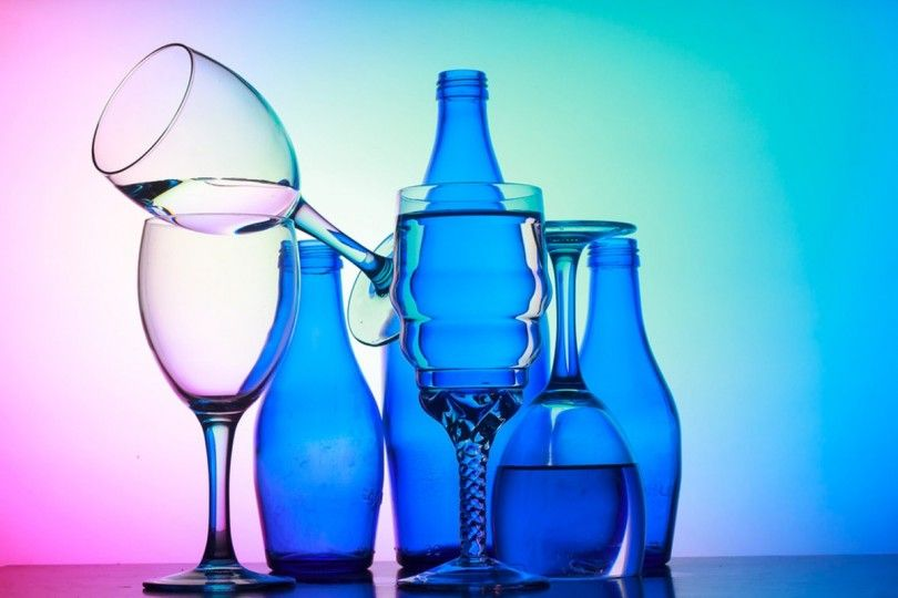 стекло посуда бутылки бокал