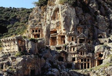 Мира история Турция замок город развалины