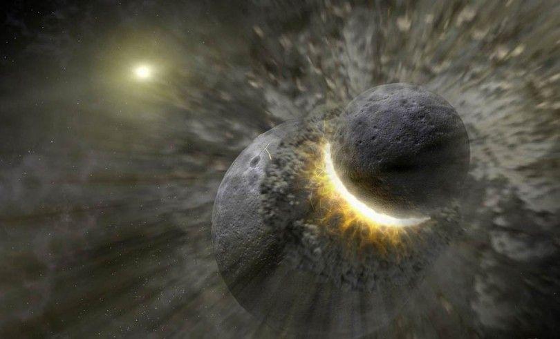 луна земля взрыв космос
