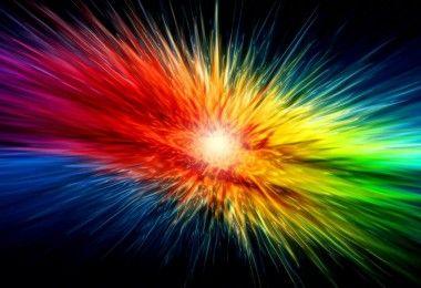 цветной взрыв волны
