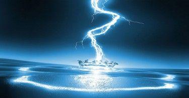 вода электричество молния
