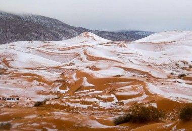 Карим Бушетата Сахара снег пустыня