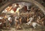 Встреча папы Льва с Аттилой. Фреска Рафаэля в Ватикане (1514 г.) римляне гунны история