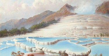 Розовые и Белые террасы озера Ротомахана в Новой Зеландии