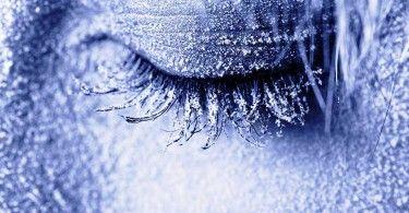 крионика заморозка девушка глаз зима холод
