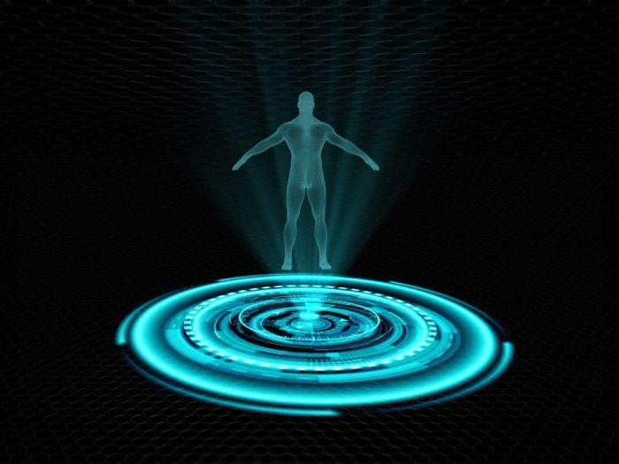 трёхмерная голограмма человек проекция